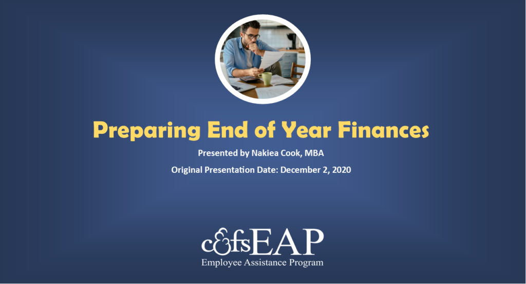 Preparing Your End-of-Year Finances for Tax Season