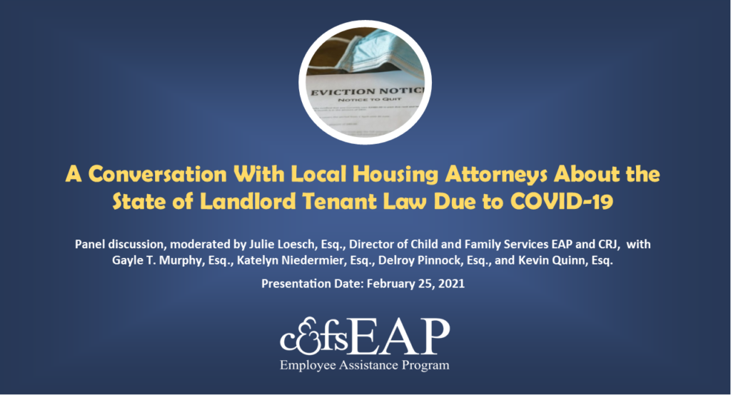 A Conversation With Local Housing Attorneys About the State of Landlord Tenant Law Due to COVID-19