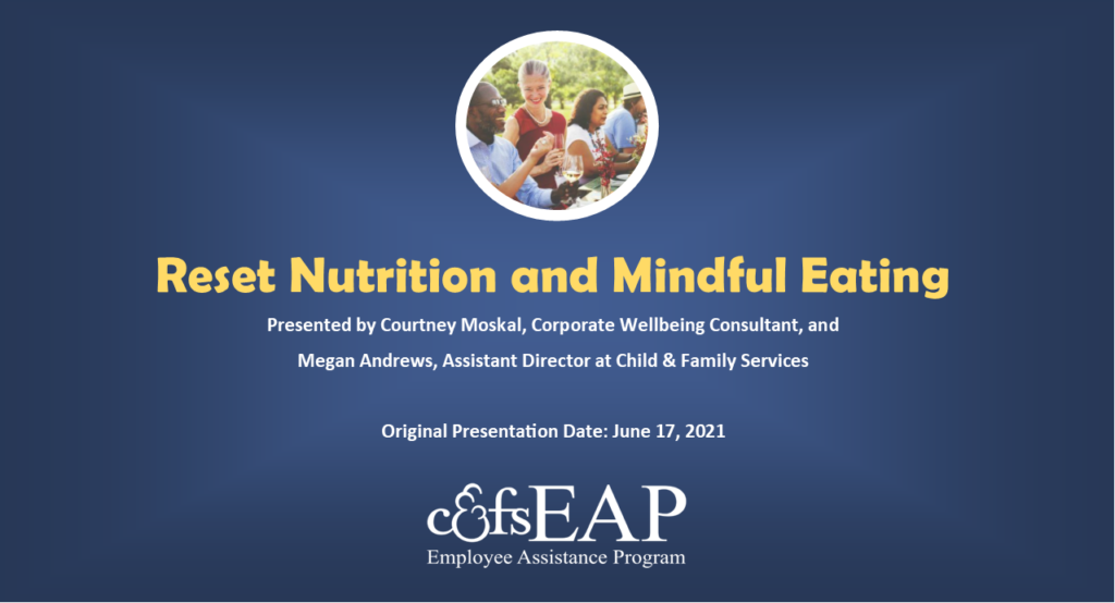Reset Nutrition and Mindful Eating